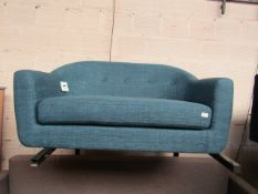 | 1X | MADE.COM LOTTIE 2 SEATER SOFA, HARBOUR BLUE | UNCHECKED & NO FEET PRESENT | RRP £399 |