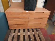 | 1X | MADE.COM 6 DRAWER CHEST OF DRAWERS | HAS A FEW DENTS BUT NOTHING MAJOR, VIEWING RECOMMENDED |