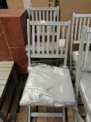 | 1X | COX & COX SET OF TWO REVENNA DINING CHAIRS - LOOKS IN GOOD CONDITION (NO GUARANTEE) & BOXED |