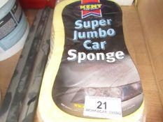 2x Kent - Super Jumbo Car Sponge - Unused & Packaged.