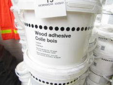 10x Wood Adhesive (Suitable for Wood, Cardboard & Paper) - 2.5 Litres - All Unused & Sealed.
