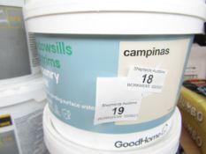 2x Goodhome - Window-Sills & Trims Masonry Paint ( Colour - Campinas) - 2.5L Tubs - Unused.
