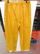 PVC Work Trousers - Light Yellow Mustard - Size 2XL - Unused & Packaged.