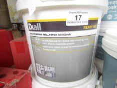2x Diall - Multi-Purpose Wallpaper Adhesive 3.5KG Ready Mix - Unused.