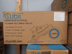 | 2X | CUBII UNDER DESK ELLIPTICAL WORKOUT | UNCHECKED & BOXED | NO ONLINE RE-SALE | RRP £179.99 |