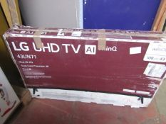"""LG - UHD TV Ai ThinQ 43"""" - Tested Working & Boxed."""