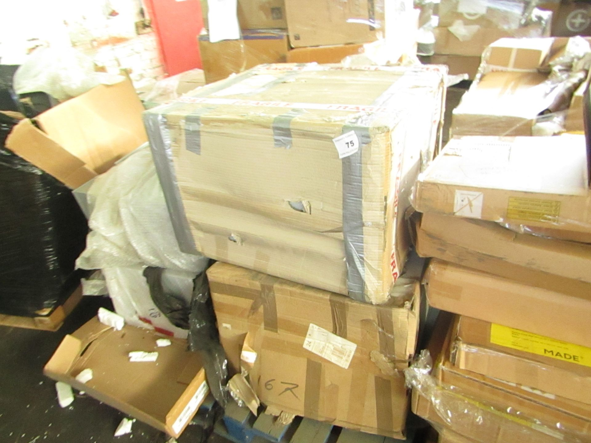 PALLET CONTAINING 4 FILING CABINETS. UNCHECKED