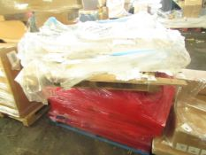 PALLET CONTAINING APPROX 20 BOXED OF NAILS AND 2 X STOOLED CILLS. ALL UNCHECKED