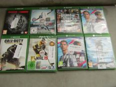 8x Various Games for Xbox one, all unchecked