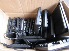 Box of approx 15 various wired and wireless keyboards, all unchecked