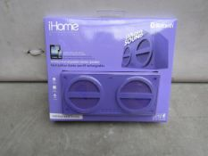 4x iHome Bluetooth wireless rechargeable speakers, all new and packaged.