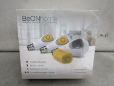 BeOnHome Smart Light bulb security starter pack, includes 3 app controlled light bulbs without the