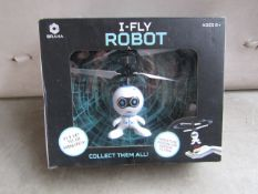 I-Fly robot helicopter, unchecked but looks unopened, not guaranteed though.