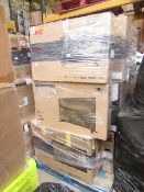 1X PALLET OF 31 CUSTOMER RETURN TVS   PLEASE BE AWARE THERES NO GUARANTEE THAT ANY OF THESE TVS