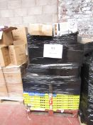 1X PALLET CONTAINING APPROX 20 HOME ELECTRICAL AND FITNESS ITEMS   THIS PALLET IS UNCHECKED AND