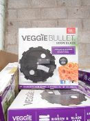   2X   BOX CONTAINING 20 UNITS OF 14 VEGGIE BULLET RIBBON BLADES   NEW AND BOXED   NO ONLINE