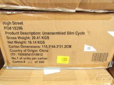   2X   SLIM CYCLE EXERCISE MACHINES   UNCHECKED & BOXED   NO ONLINE RESALE   RRP £199.99 EACH  