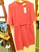 L K Bennett London Elina Raspberry Dress size 16 RRP £225 new with tag see image for design