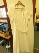 L K Bennett London Emmy Cream Dress size 14 RRP £250 new with tag see image for design