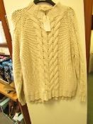 L K Bennett London Palmina Cream Jumper size L RRP £195 new with tag see image for design