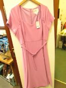L K Bennett London Emmy Lilac Dress size 18 RRP £250 new with tag see image for design