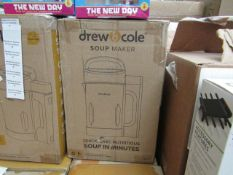 | 1x | DREW AND COLE SOUP MAKER | REFURBISHED AND BOXED | NO ONLINE RESALE | SKU - | RRP £59.99 |
