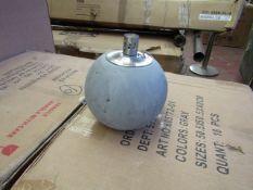 Grey Concrete Citronella Oil Garden Table Lamp - Unchecked & Boxed - £24.99.