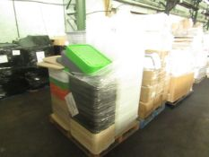 1X PALLET OF PLASTIC STORAGE BOXES | MOST LOOK TO BE IN GOOD CONDITION BUT NO GUARANTEE | 40
