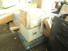 PALLET OF FILLING CABINETS. ALL UNCHECKED