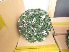 4x Pink Flower Topiary Garden Basket - Unused & Boxed.