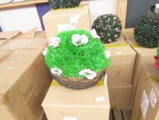 2x XL Pink Flower Topiary garden Basket - Unused & Boxed.