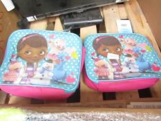 3x Disney Doc Mcstuffins Lunch Box | Appears Unused With Tags However Items Have A few Dirt marks.