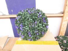3x Purple Flower Topiary Garden Basket - Unused & Boxed.