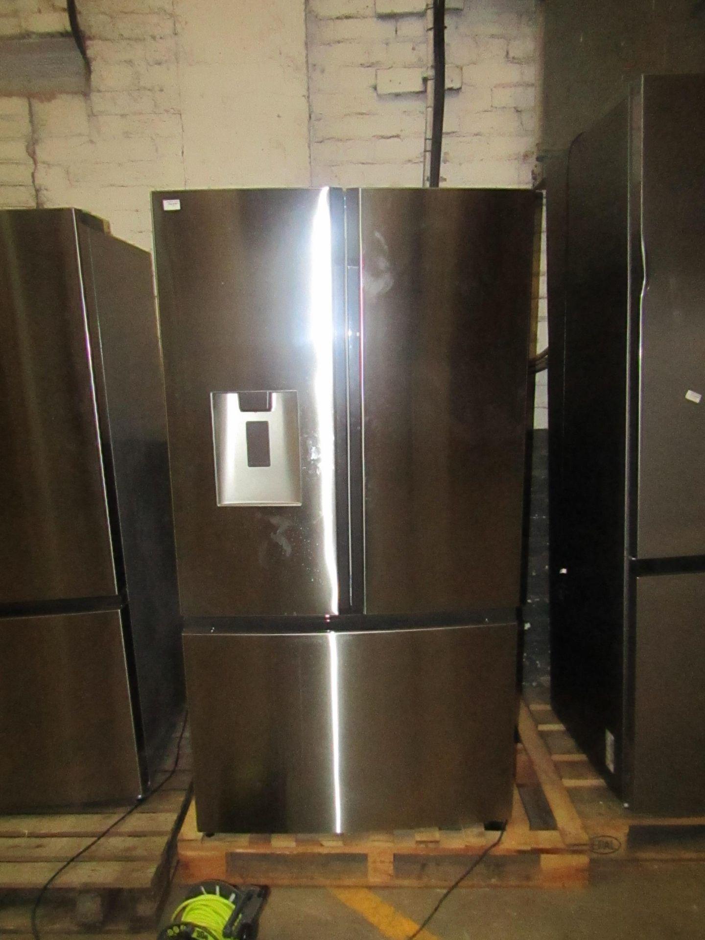 Hisense RF750N4ISF American fridge freezer, powers on but not getting cold.