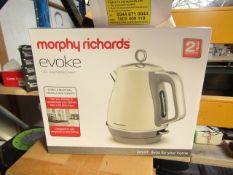 Morphy Richards Evoke 1.5L jug cream kettle, brand new and boxed. RRP £49.99