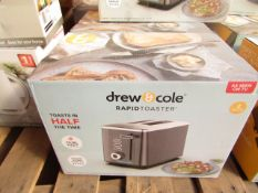 | 1x | DREW AND COLE RAPID 2 SLICE TOASTER | REFURBISHED AND BOXED | NO ONLINE RESALE | SKU - |