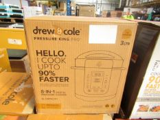 | 1x | DREW AND COLE PRESSURE KING PRO 8 IN 1 DIGITAL PRESSURE COOKER | PROFESSIONALLY REFURBISHED