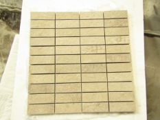 10x Boxes of 5 300x300 Ceramica Portinari District HD Hard Grey Mosaic B36080, brand new. RRP £25