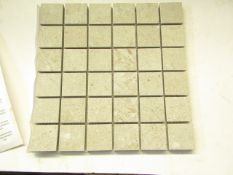 8x Boxes of 11 300x300 District HD Soft Grey Mosaic 58288, brand new. RRP £15.36 a box, Total Lot