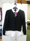 2x Girls school jumper black - size 10/11 - new but might have security tags on.
