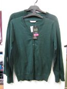 3x girls 2piece school cardigan green - size 10/11 - new but might have security tags on.