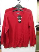 2x boys 2piece school jumper red - size 10/11 - new but might have security tags on.