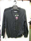 4x girls 2piece school cardigan grey - size 10/11 - new but might have security tags on.