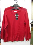 3x boys 2piece school jumper red - size 10/11 - new but might have security tags on.