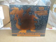 box of 10x Pokemon - Champion's Path - Elite Trainer Box - New & Packaged. RRP £69.99 each