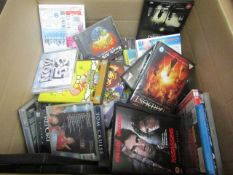 box af approx 40 various DVD's and CD's all unchecked.