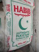 40KG bag of Habib Authentic pakistani Basmati rice, RRP £50.99