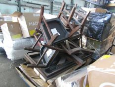 PALLET COBTAINING 2 X COSTCO WOODEN DINING TABLES WITH CHAIRS. UNCHECKED