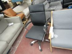 Costco leather and chrome office chair, no major damage.