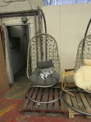 | 1X | COX AND COX HANGING CHAIR | NO MAJOR DAMAGE | RRP £425 |